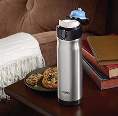 Thermos Stainless Steel Vacuum Insulated Commuter Bottle, 470ml, Midnight Blue, JMW500MB4AUS