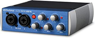 PreSonus AudioBox USB 96 2x2 USB Audio Interface, Blue, PC/Mac - 2 Mic Pres