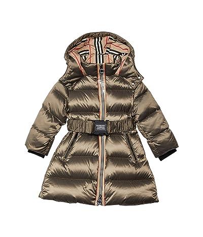 Burberry Kids Abriana Coat (Little Kids/Big Kids) (Smoke) Girl