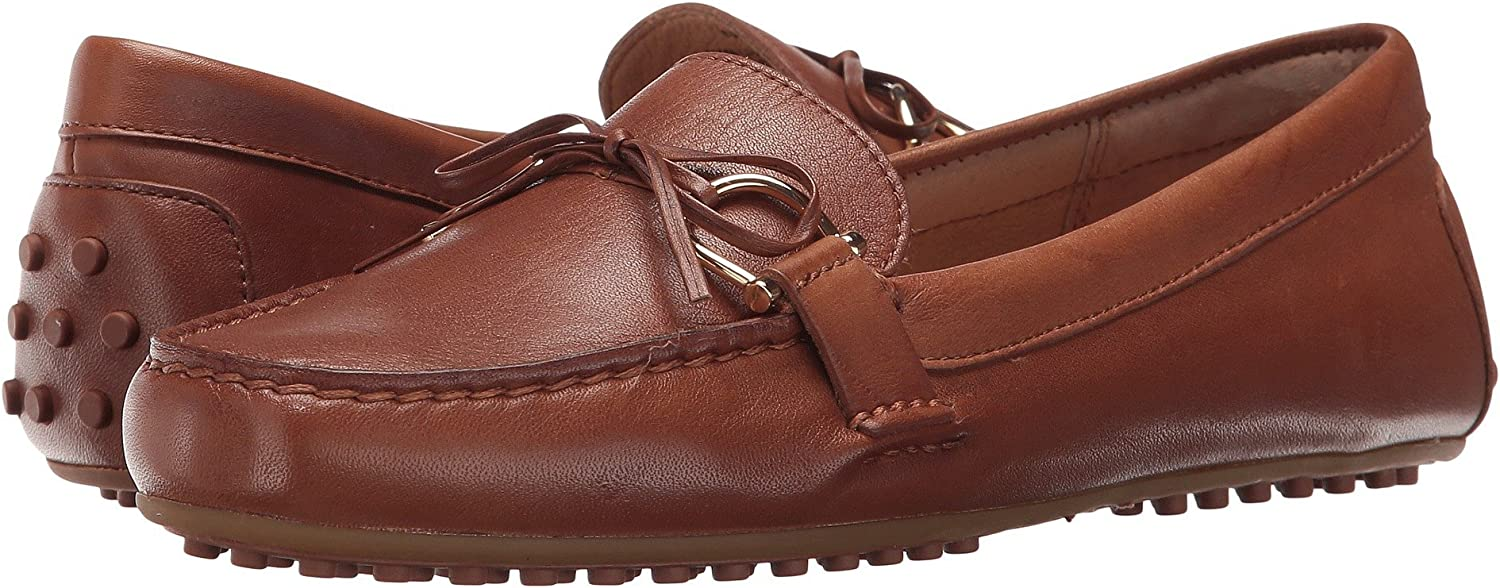 Ralph Lauren Womens Briley Moccasin Loafer, Brown, Size 7.0