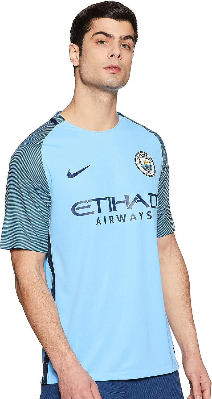 NIKE Manchester City M SS Hm Stadium JSY Camiseta de Manga Corta, Hombre