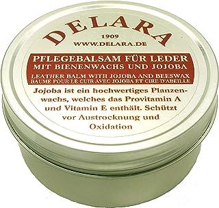 DELARA Baume d'entretien pour cuir avec jojoba et cire d'abeille – Protège efficacement le cuir lisse contre le dessècheme...