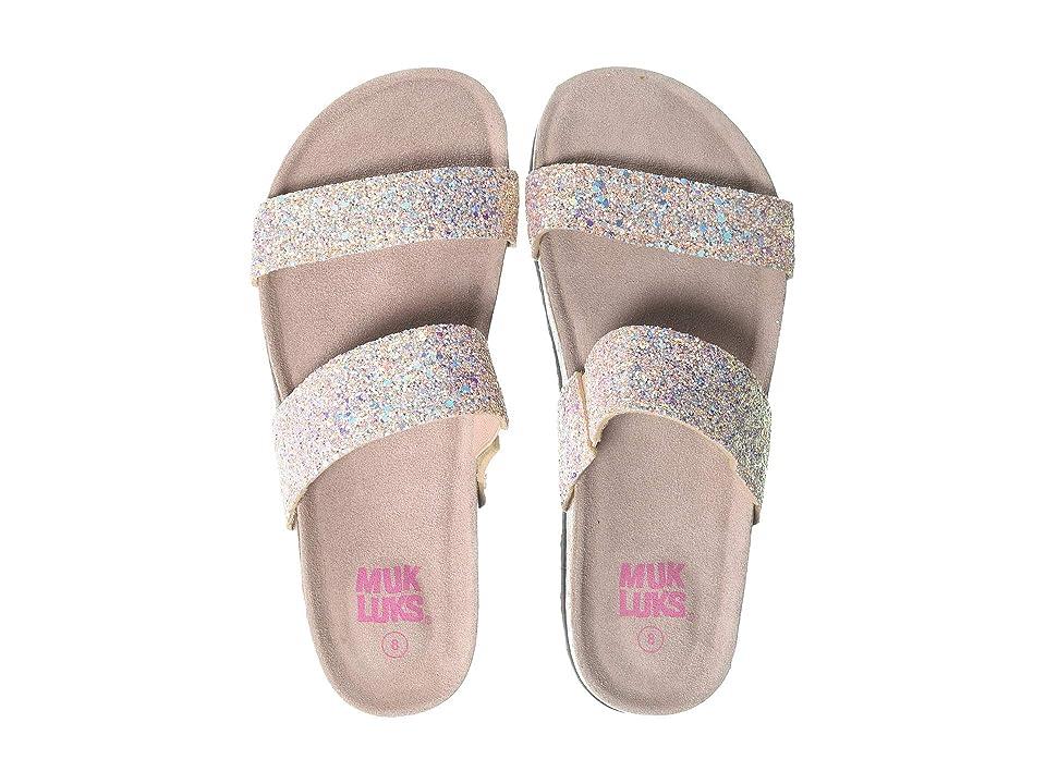 MUK LUKS Daphne (Blush Glitter) Women's Flat Shoes