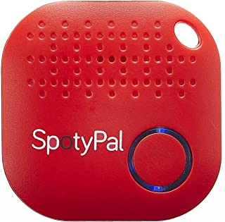 SpotyPal-Upgrade Your Life-Item Finder, Key Finder, Phone Finder, Panic Button, Separation Alert, Replaceable Battery-Red
