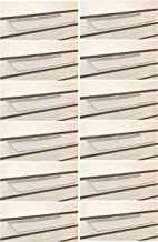 Clear Slatwall Shelves 4 Inch x 10 Inch Set of 12 Retail Display