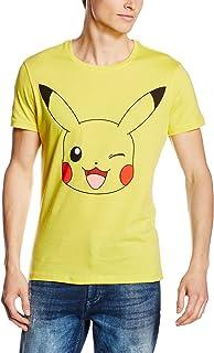 Pokèmon Oficial Mens guiño diseño Pikachu Yellow t-Shirt