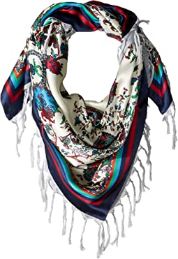 Paisley Double-Faced Silk Square Scarf