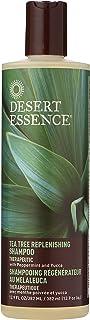 Desert Essence Shampoo, Tea Tree Replenishing Shampoo, 12.9 - Ounces (Pack of 3)