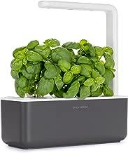 Click & Grow Smart Garden 3 Indoor Gardening Kit (Includes Basil Capsules), Grey