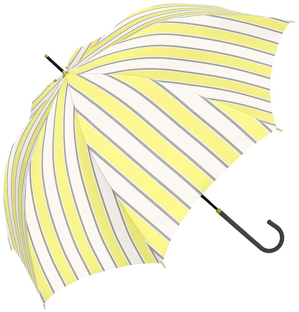 仕出しますアレイ描写a.s.s.a 傘 レディース 軽量 長傘 雨傘 58cm ストライプ かわいい シンプル グラスファイバー強化骨(RL199)