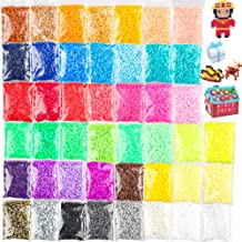 36000 Pcs Value Pack Fuse Beads 45 Colors, Bulk Assorted Multicolor Fuse Beads for Kids and Chilren Crafts with Ironing Papaer