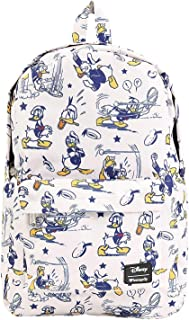 Disneys Donald Duck Print Backpack, White, Standard