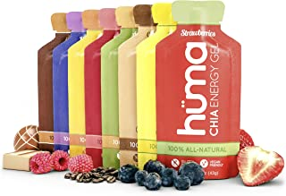 Huma Chia Energy Gel, Variety Pack, 12 Gels - Premier Sports Nutrition for Endurance Exercise - 8 Flavors