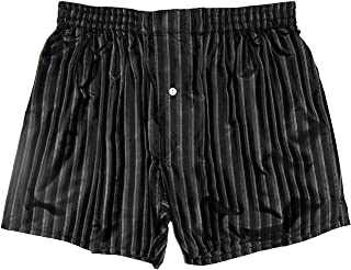 Royal Silk Stripes Noir Silk Boxers Black