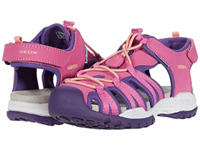 Geox Kids Borealis 9 (Little Kid/Big Kid) (Fuchsia/Violet) Girl