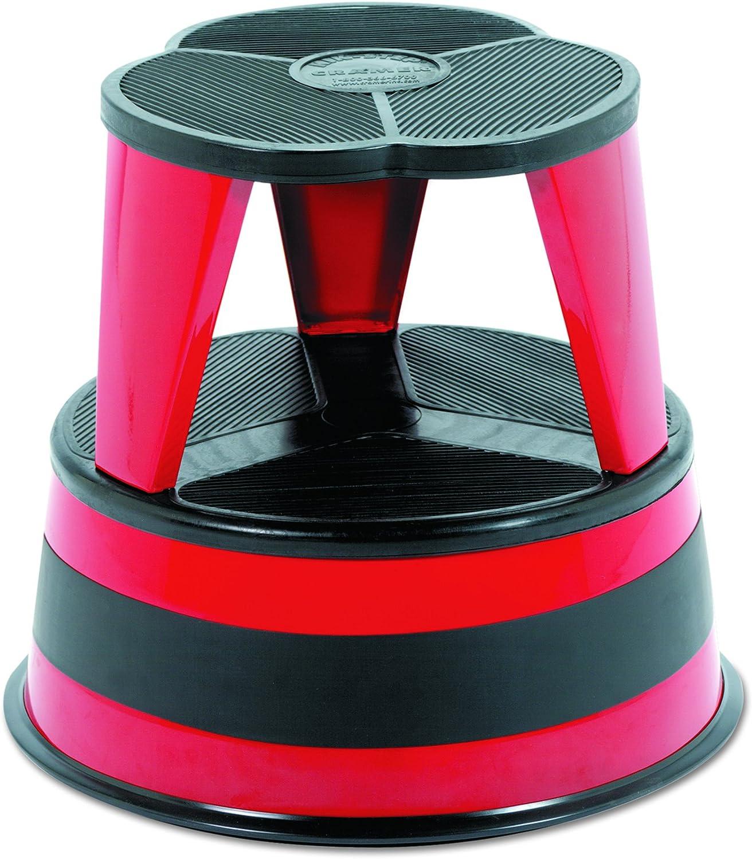 Cramer 100143 Kik-Step Steel Step Stool, 350 lb cap, 16  dia. x 14 1 4h, Red