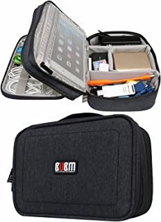 BUBM Travel Gadget Organizer Bag Digital Versatile Case Electronics Accessories Storage Bag (Black,Small)