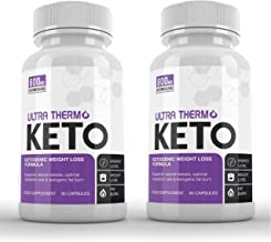 Ultra Thermo Keto 2 x 60 Capsules KETOGENIC Weight Loss Formula – Keto Capsules for Men Women – Burn Body Fat Weight – Keto Diet – Raspberry Ketones Extract-SUPPLEMENT PARADISE Estimated Price : £ 72,22
