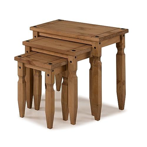 mercers furniture Corona – Piccolo, Juego de 3 mesas encajables – Pino
