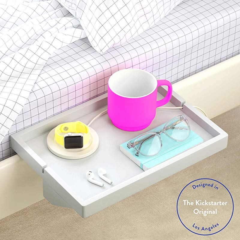 BedShelfie The Original Bedside Shelf 9 Colors 3 Sizes AS SEEN ON Business Insider Original Light Grey