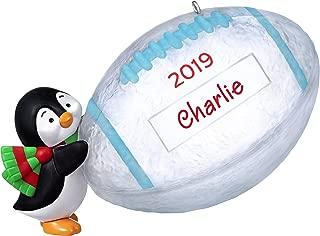 Hallmark Keepsake Christmas 2019 Year Dated Football Star Penguin DIY Personalized Ornament
