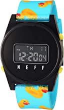 neff Men's Analog-Quartz Sport Watch with Plastic Strap, Multi, 23 (Model: NF0245-2)