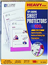C-Line Top Loading Heavyweight Poly Sheet Protectors, Non-Glare, 8.5 x 11 Inches, 100 per Box (62028)