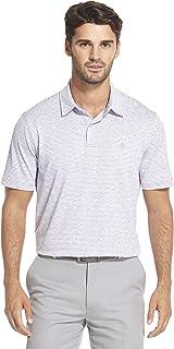 IZOD Men's Performance Golf Greenie Short Sleeve Stripe Polo Shirt