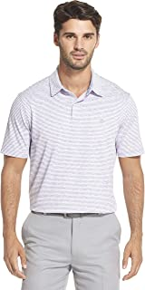 Izod Men's Performance Golf Greenie Short Sleeve Stripe Polo Shirt