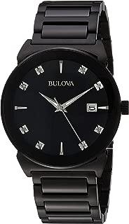 Bulova Men's 30mm Diamond Stainless Steel Bracelet Watch (Certified Refurbished)