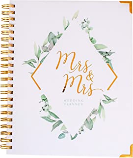 $28 » Sponsored Ad - Mrs and Mrs Wedding Planner USA - Undated Bridal Planning Diary Organizer - Lesbian Female Brides Engagemen...