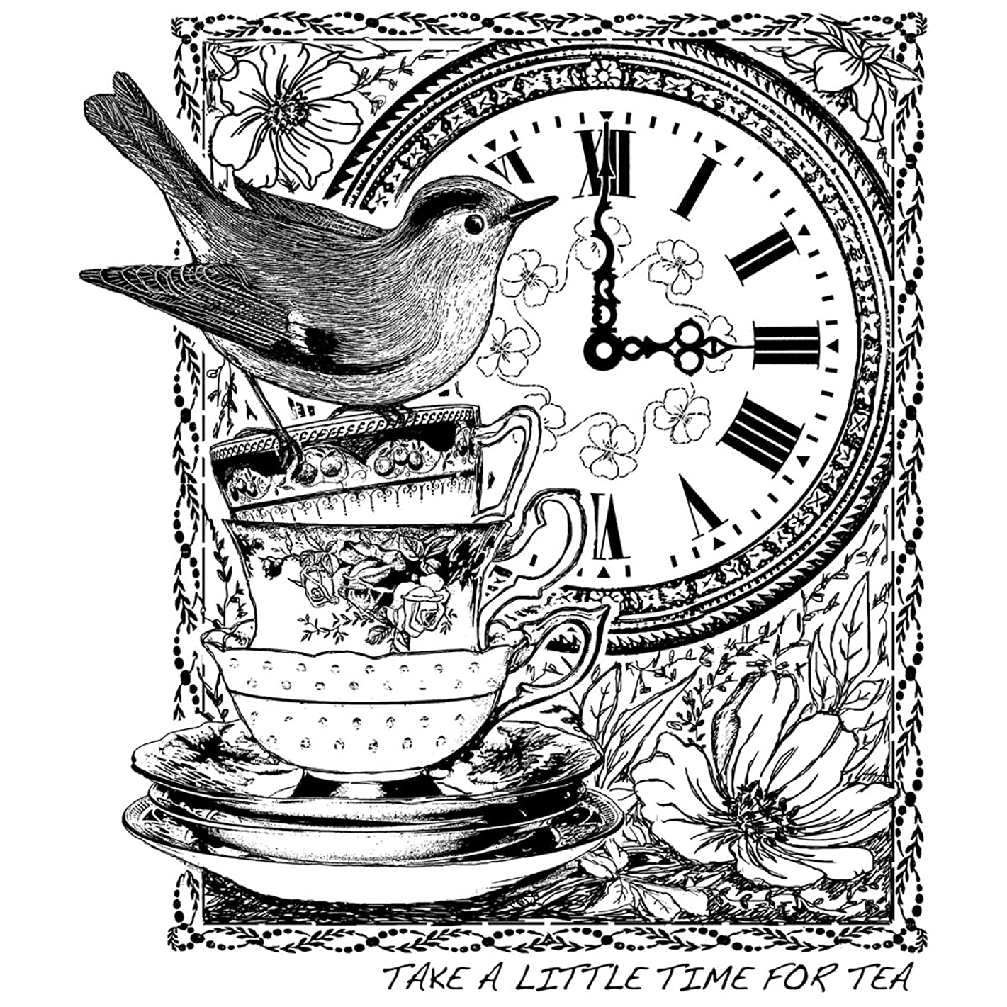 Crafty Individuals CI-389 Unmounted Rubber Stamp, Tea at 3