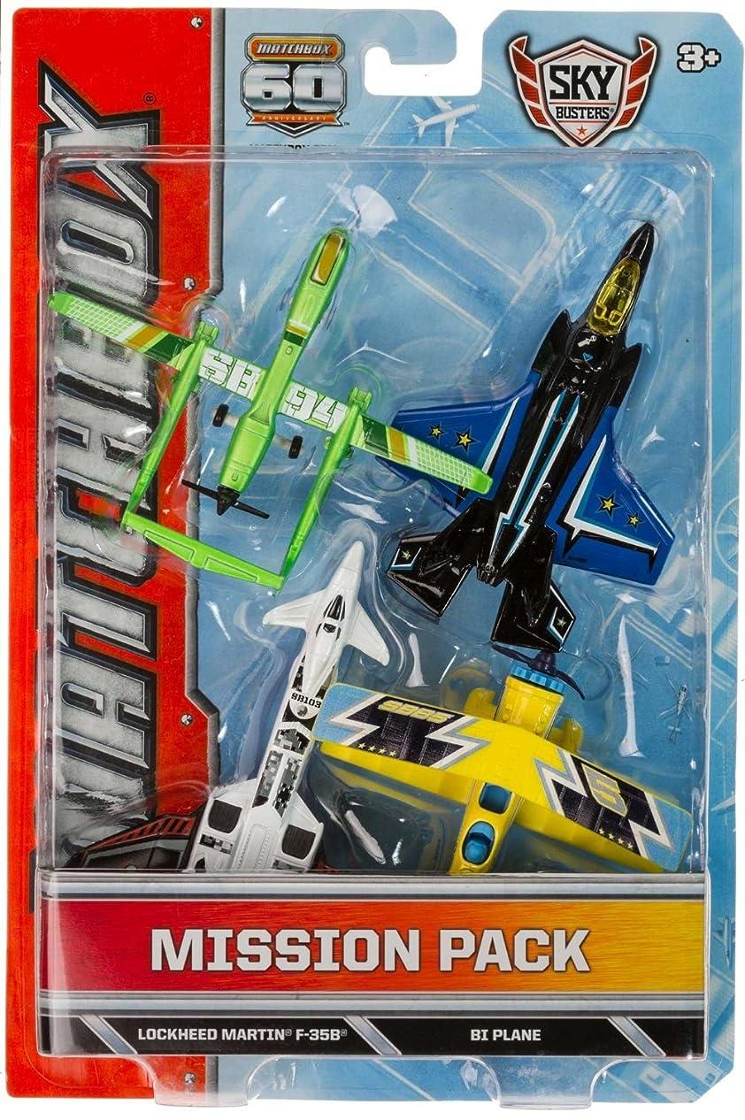 翻訳者マイクロプロセッサ怖がって死ぬTwin Blast, Lockheed Martin F-35B, BI Plane, SB94 Drone Die-Cast Vehicle Pack: Matchbox Sky Busters Mission Pack Series