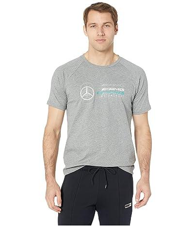 PUMA Mercedes AMG Pertronas Logo Tee (Medium Grey Heather) Men