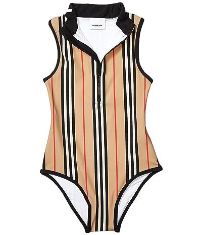Burberry Kids Siera Stripe Swimsuit (Little Kids/Big Kids) (Archive Beige IP Stripe) Girl