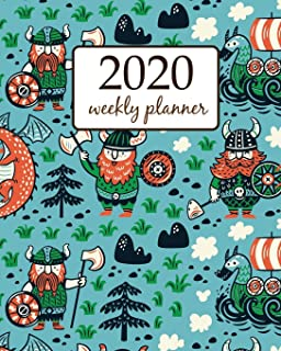 2020 Weekly Planner: Calendar Schedule Organizer Appointment Journal Notebook and Action day With Inspirational Quotes viking iceland art design (Weekly & Monthly Planner 2020)