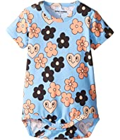 mini rodini - Flowers Short Sleeve Bodysuit (Infant)
