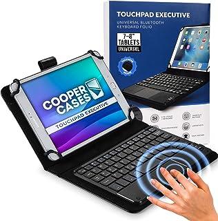 Cooper Cases TOUCHPAD EXECUTIVE Bluetooth タッチパッド付き キーボード ケース 【 7-8 インチ タブレット 汎用サイズ 】 ワイヤレス マウス カバー 着脱可能 (ブラック)