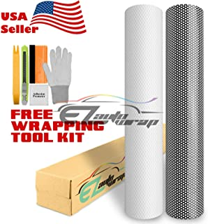 EZAUTOWRAP Free Tool Kit White One-Way Vision Perforated Print Media Vinyl Privacy Window Film Adhesive Glass Wrap Roll - 24