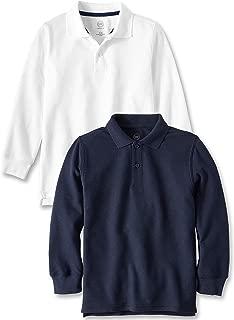 Long Sleeve School Uniform Pique Polo