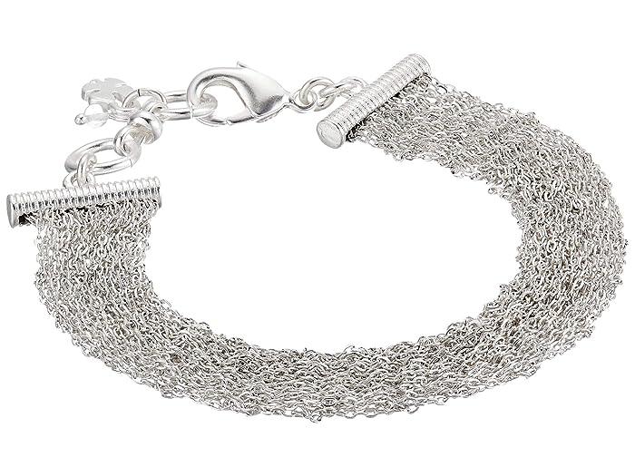 Lucky Brand  Woven Chain Wide Bracelet (Silver) Bracelet