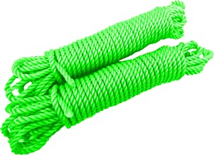 NYLON Rope or Multicolor Cloth Hanging Rope For Both Indoor And Outdoor Purpose Thick(2 pieces) 25 meters
