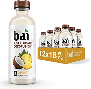 Bai Coconut Flavored Water, Puna Coconut Pineapple, Antioxidant Infused Drinks, 18 Fluid..