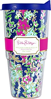 Lilly Pulitzer 24 oz Insulated Thermal Tumbler with Lid, Southern Charm