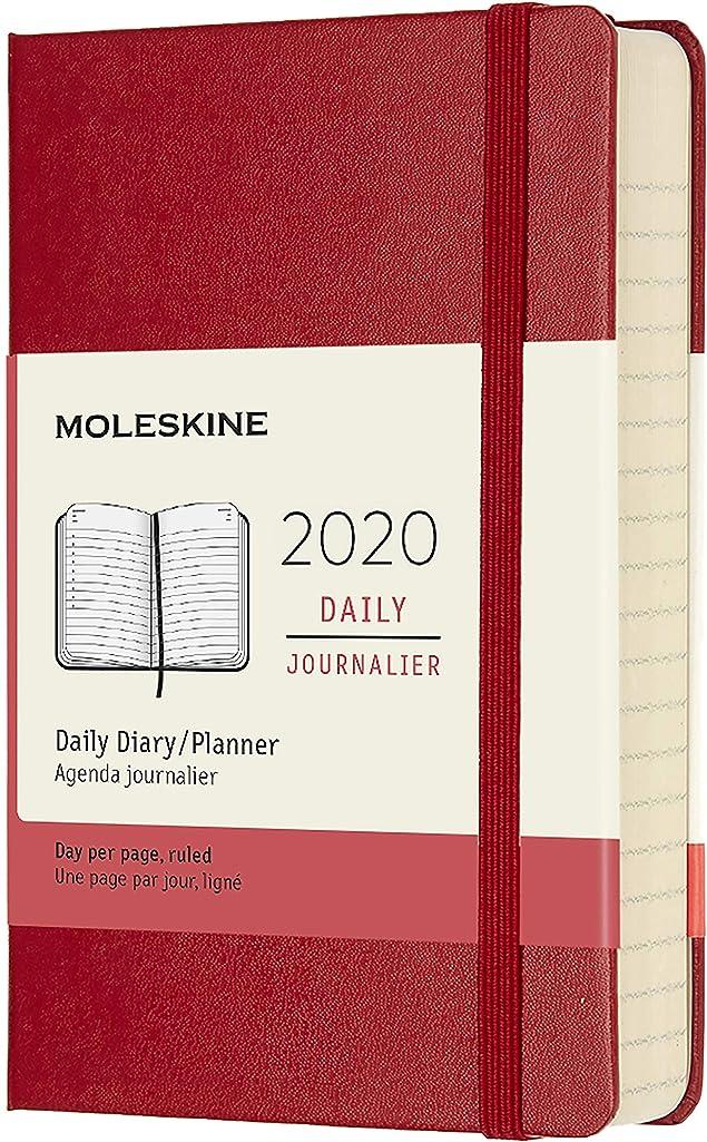 会話型マニュアルクレーンMoleskine Classic 12 Month 2020 Daily Planner, Hard Cover, Pocket (3.5