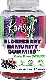 Konsyl Elderberry Immunity Gummies | Supports Immune System Health+ - Dietary Supplement 60ct