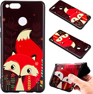 Ronshin For HUAWEI Honor 7X Fashion 3D Relief Soft Frosted TPU Back Case Cover Red fox HUAWEI Honor 7X