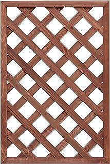 アイリスオーヤマ ラティス フェンス 仕切り W-609 ブラウン 幅60cm×高さ90cm