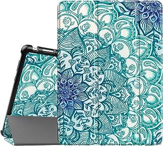 Fintie SlimShell Funda para Huawei MediaPad M3 Lite 10 - Súper Delgada y Ligera Carcasa con Función de Soporte y Auto-Reposo/Activación para 10.1 Pulgadas IPS FullHD, Ilusión Esmeralda