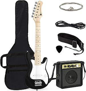 Best Choice Products 30in Kids Electric Guitar Beginner Starter Kit w/ 5W Amplifier, Strap, Case, Strings, Picks - Black